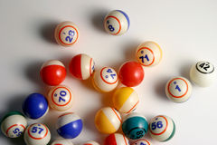 bingo σφαιρών Στοκ εικόνες με δικαίωμα ελεύθερης χρήσης