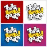 Bingo, σύμβολο τζακ ποτ Στοκ Εικόνα