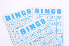 Bingo 02. Bingo cartons/cards on a white background Stock Photography