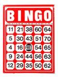 Bingo. Red bingo card isolated on white background Royalty Free Stock Images