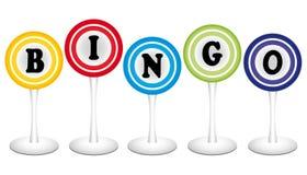 Bingo. Illustration of colorful bingo balls Stock Photo