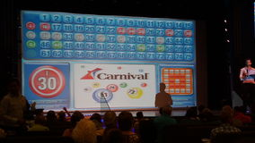 Bingo aboard the Carnival Breeze. Sailing away from Miami, Florida Royalty Free Stock Photography