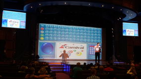 Bingo aboard the Carnival Breeze. Sailing away from Miami, Florida Stock Photography