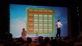 Bingo aboard the Carnival Breeze. Sailing away from Miami, Florida Royalty Free Stock Image