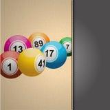 Bingo agenda on cream leather Stock Photo