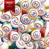 Bingo Background with Balls. Vector Illustration. Royalty Free Stock Photo