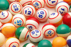 Bingo Ball Background. A background of many bingo balls from all colors Royalty Free Stock Photography