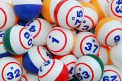 Bingo Ball Background Stock Images