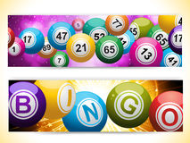 Bingo ball banners stock illustration