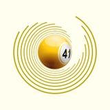 Bingo ball on circle pattern Stock Photos