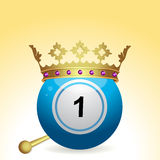 Bingo ball and crown and sceptre Royalty Free Stock Images