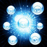 Bingo ball explosion Royalty Free Stock Photo
