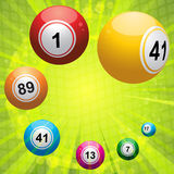 Bingo ball on green starburst Stock Photo