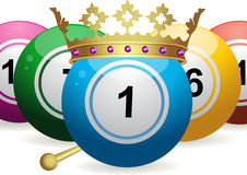 Bingo ball king Royalty Free Stock Images