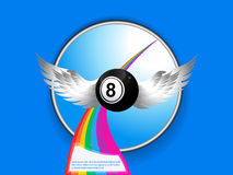 Bingo ball with wings rainbow and sample text Royalty Free Stock Image