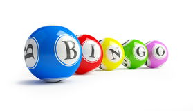 Bingo balls. On a white background Stock Photo