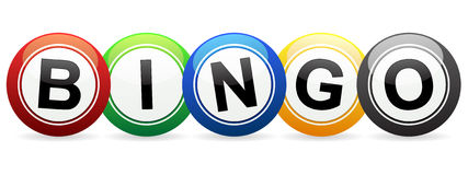 Bingo Balls. An illustration of colorful bingo balls spelling out Bingo Royalty Free Stock Image