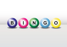 Bingo balls. 3D bingo balls with different colors and each ball has the shadow. Easy to edit, manipulate or resize royalty free illustration