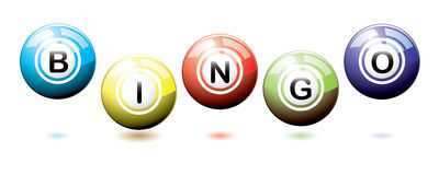 Bingo balls bounce Royalty Free Stock Photography