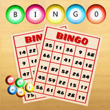Bingo balls and cards Stock Photography