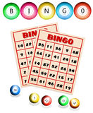 Bingo balls and cards Royalty Free Stock Image