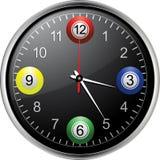 Bingo balls clock Royalty Free Stock Image