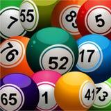 Bingo balls close up background Stock Photos