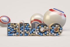 Bingo Balls. 3D render of bingo balls Royalty Free Stock Photos
