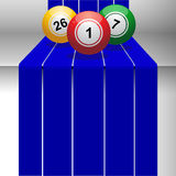 Bingo balls on 3D step Royalty Free Stock Photo
