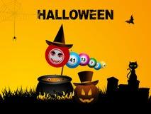 Bingo balls Halloween background Stock Photography