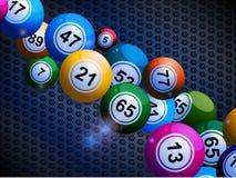 Bingo balls on honeycomb metallic background Royalty Free Stock Photography