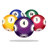 Bingo balls icons realistic vector illustration isolated on white Stock Photos