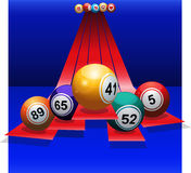 Bingo Balls over 3D stripes Royalty Free Stock Photography