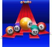 Bingo Balls over 3D stripes Royalty Free Stock Photography