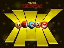 Bingo balls over festive background and 3D stripes Stock Image