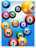 Bingo balls over portrait panel Stock Image