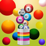 Bingo balls from paint tin Stock Image