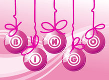 Bingo balls in pink color Royalty Free Stock Photos