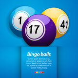 Bingo balls and sample text Royalty Free Stock Photography