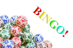 Bingo balls. Set of several colored bingo balls Royalty Free Stock Photo