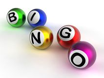 Bingo Balls Showing Luck At Lottery Stock Photography
