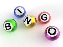 Bingo Balls Shows Luck At Lottery Royalty Free Stock Photos