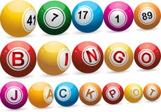 Bingo balls on white Royalty Free Stock Photography