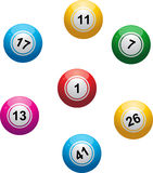 Bingo balls on white Stock Image