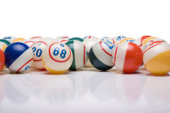 Bingo Balls. On white background with copy space Stock Photo