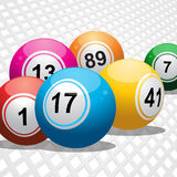 Bingo Balls on white 3D Background Stock Images