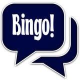 BINGO   on blue dialogue bubbles. Isolated on white background. Illustration Royalty Free Stock Images