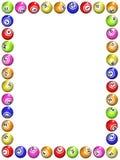 Bingo Boarder. Illustrated frame made of bingo balls royalty free illustration