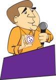 Bingo Caller. An illustrated cartoon of a bingo caller announcing numbers Stock Illustration