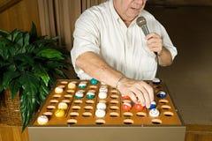 Bingo caller at work Stock Photos